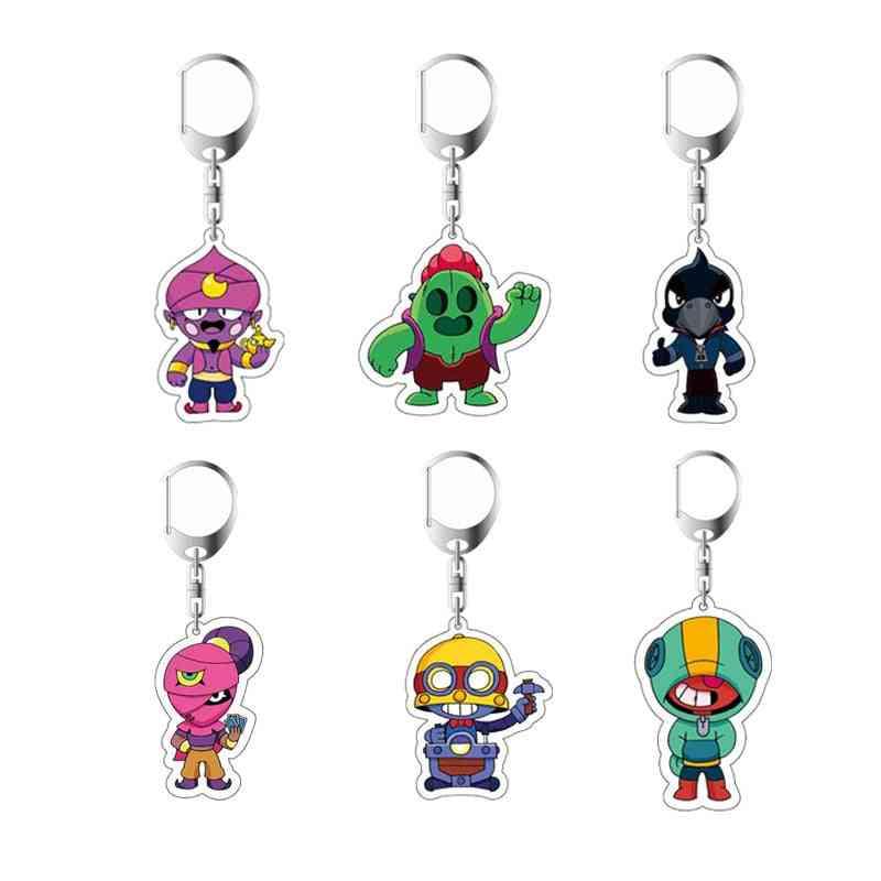 Anime Cartoon Stars/heroes Shape-acrylic Keychain