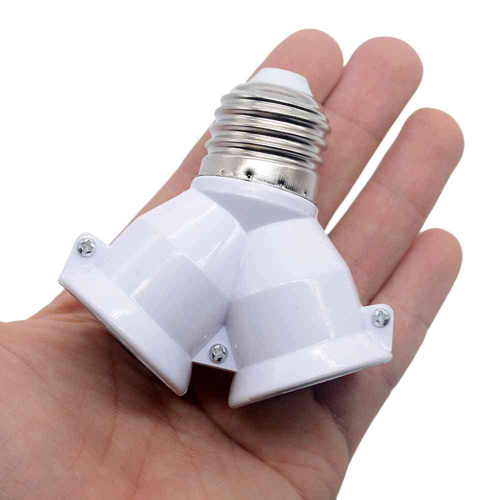 White Color Fireproof Material Converter Socket-conversion Light Bulb Base