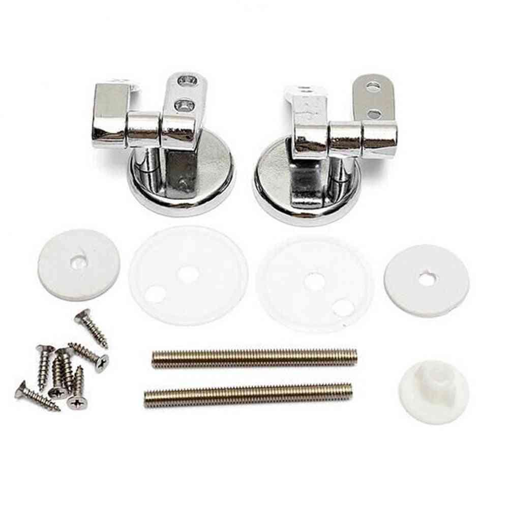 Silver Zinc Alloy, Durable Replacement-universal Bathroom Toilet Hinges
