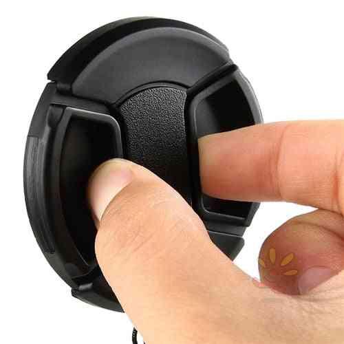 Center Pinch Snap-on Lens Cap For Canon/nikon/sony/sigma/tamron