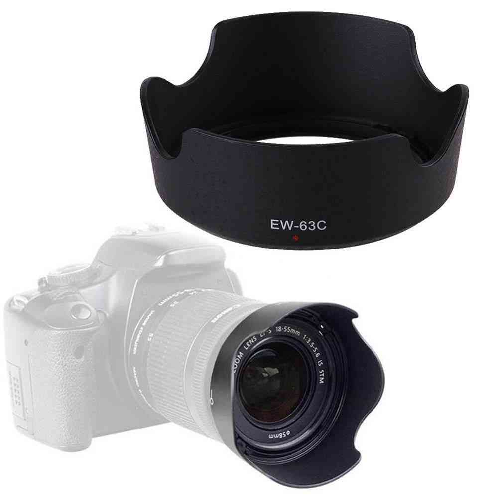 Abs Lens Hood Ew63c For Canon/ef-s, 18-55mm F/3.5-5.6 Is Stm 58mm