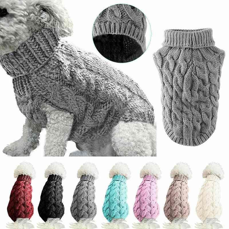 Winter Wear, Turtle Neck Design-sweater For Pets