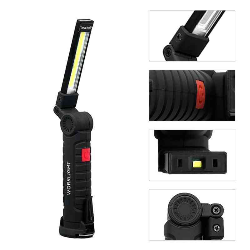 Multi-functional, Portable Cob Work Lights- Foldable Flashlight Torch