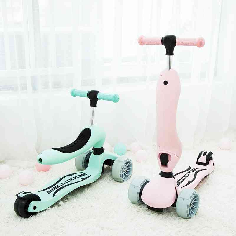 Multifunctional Three-in-one Child Widening Scooter