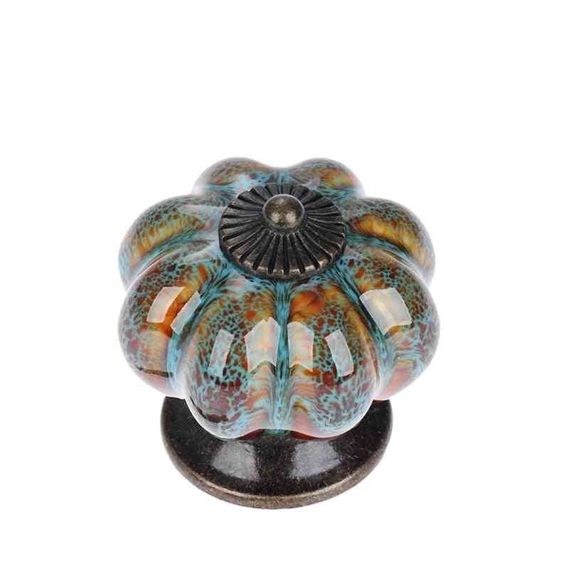 Pumpkin Handles Drawer Ceramic Pulls For Cabinets And Bathroom