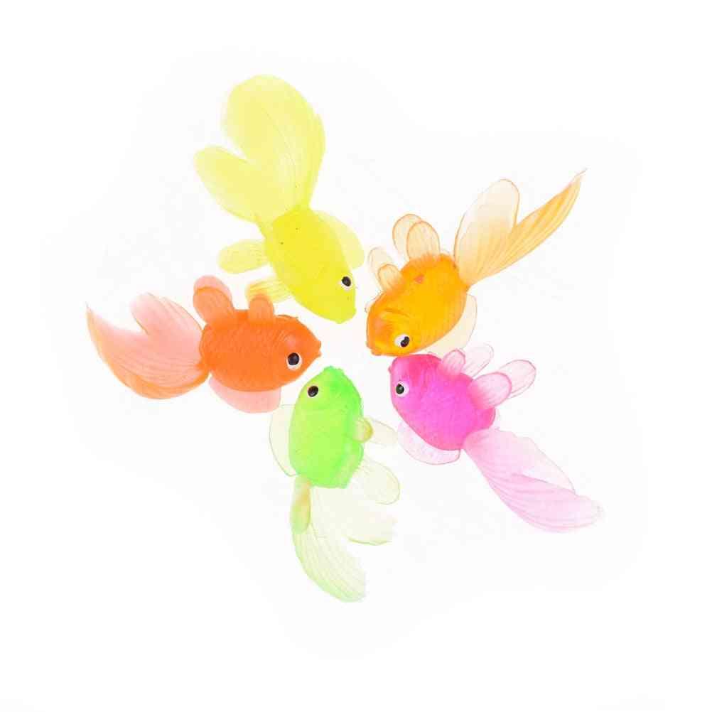 Soft Rubber Small Goldfish Kids Toy - Plastic Simulation Fish