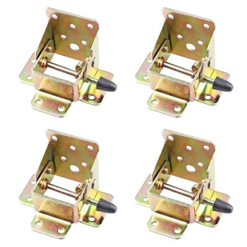 4x Iron Table / Chair Leg Brackets - Self Lock Foldable Hinges