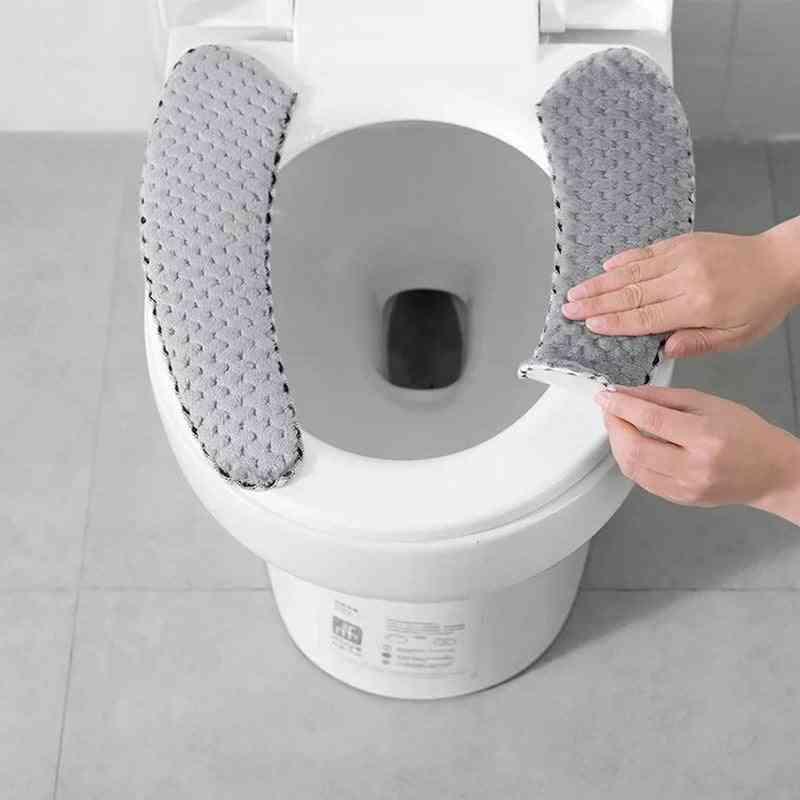 Bathroom Toilet Seat - Closestool Washable Soft Warmer Mat Cover Pad Cushion