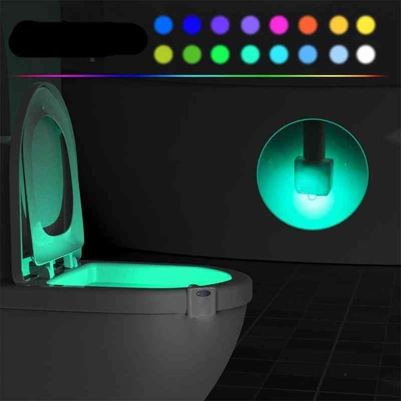 Smart Led Backlight For Toilet Bowl Seat With Motion Sensor