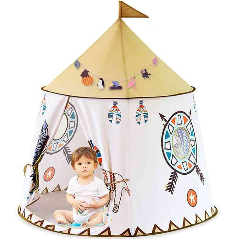 Tent House - Portable Princess Castle Indoor Teepee Play