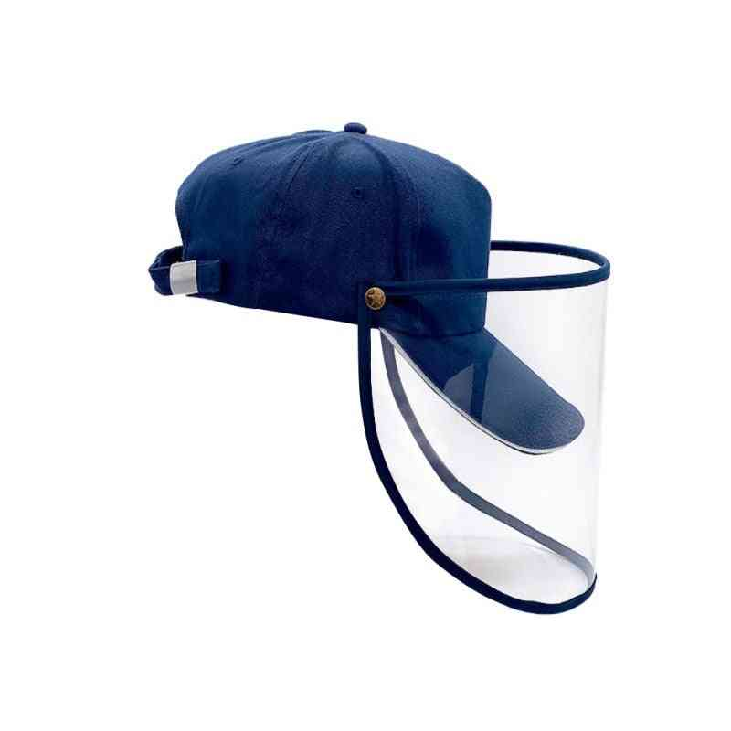 Baseball Hat With Transparent Shield Cap