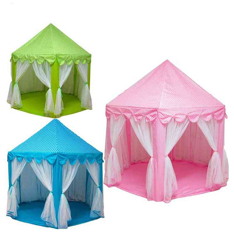 Play House Game - Portable Foldable Princess Tent Castle Toy