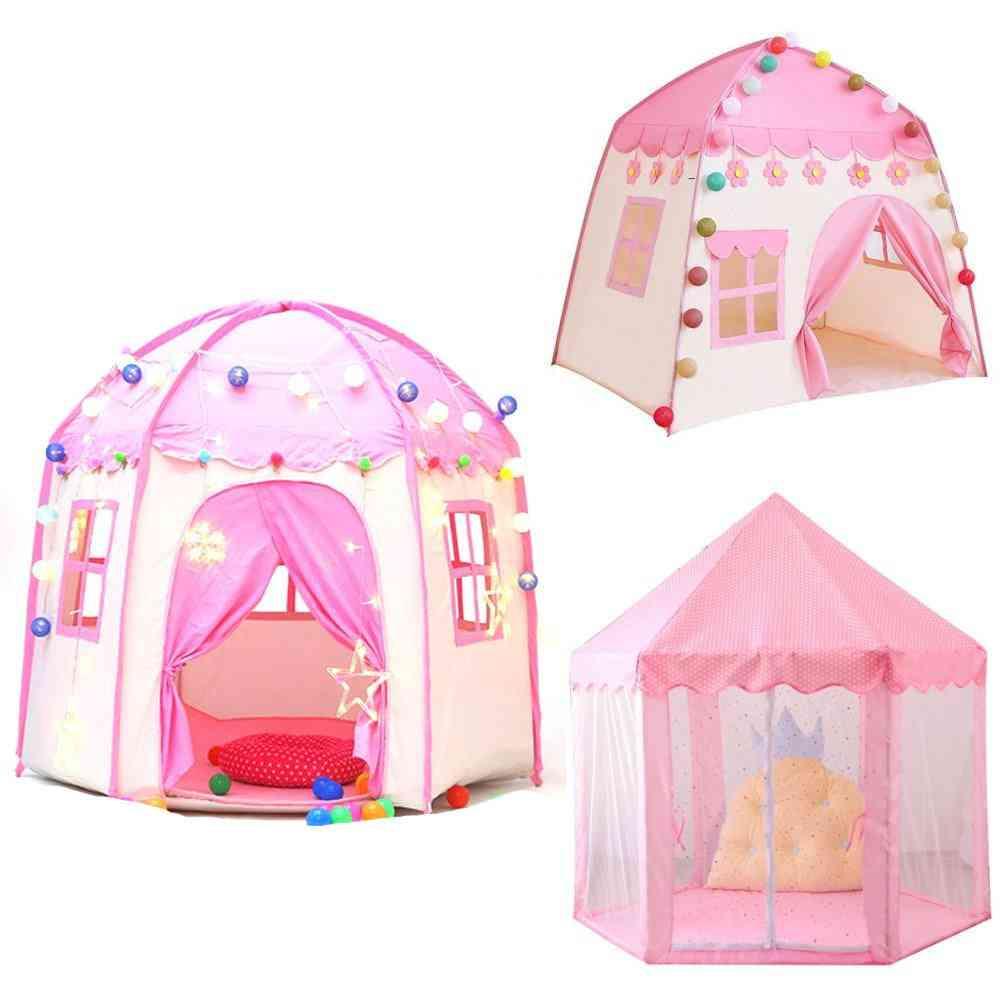 Children Princess Castle Tents - Portable / Indoor And Outdoor Garden
