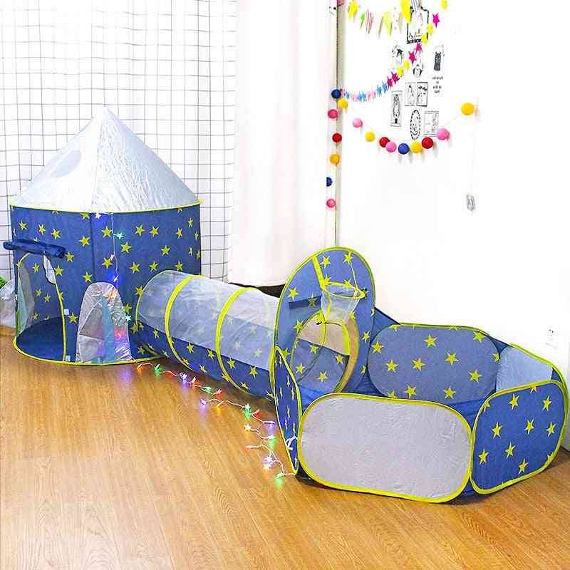 Children's 3 In 1 Tent Spaceship Tent Space