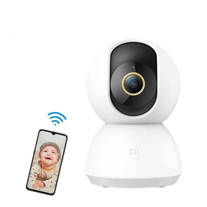 Smart, 2k Hd, 360-degree Viewing Angle With Wifi And Night Vision Camera