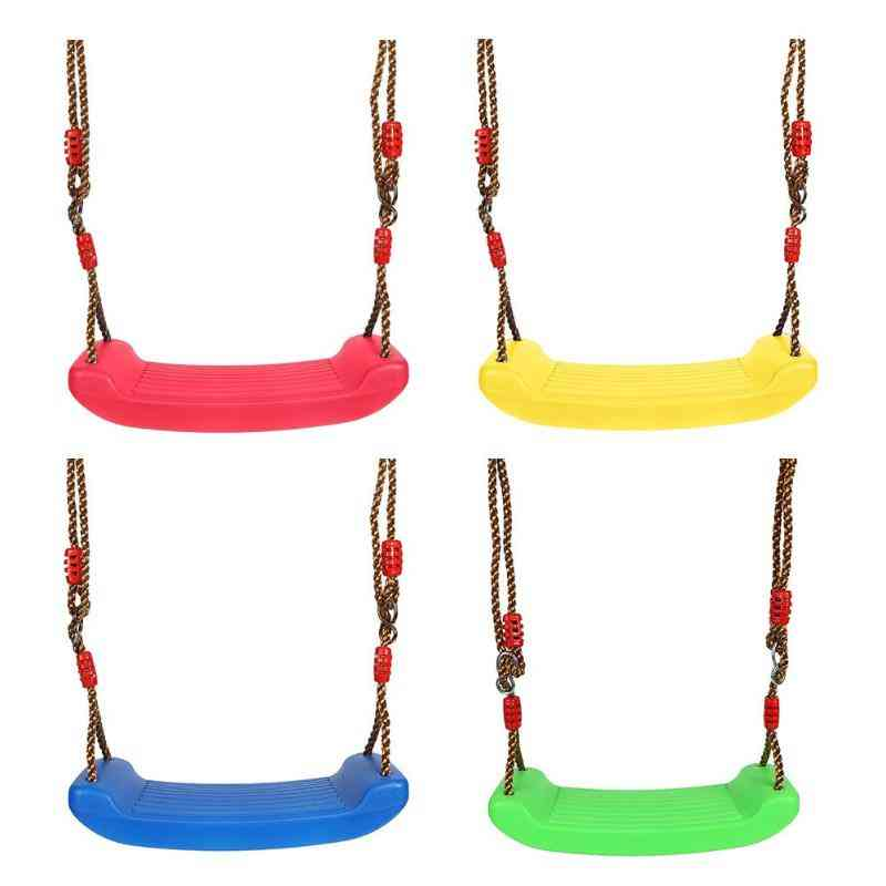Height Adjustable Ropes, Rainbow Curved Board -swing Chair