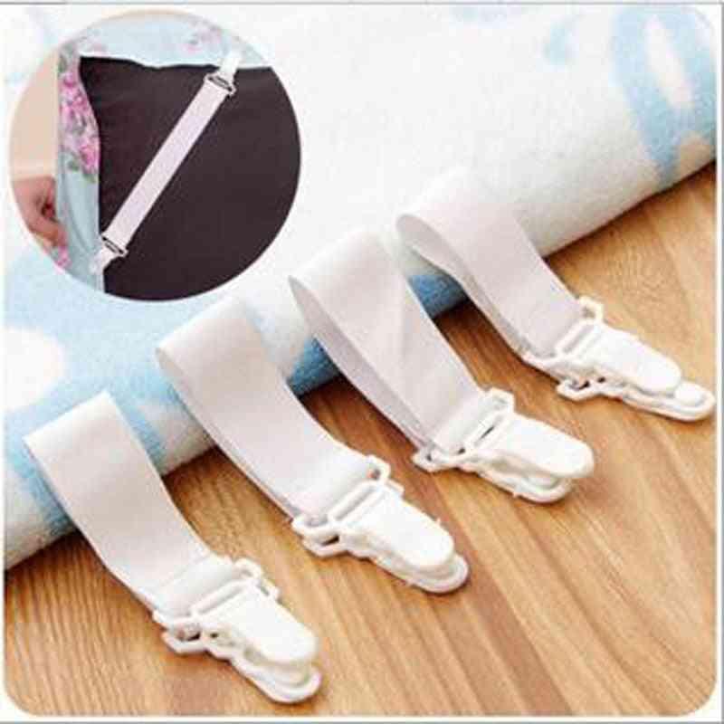 Bed Sheet Mattress Cover Blankets Home Grippers Clip Holder - Elastic Straps Fixing Slip Resistant Belt