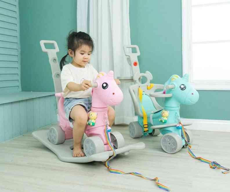Unicorn Rocking Horse Cart, Thickening Chassis