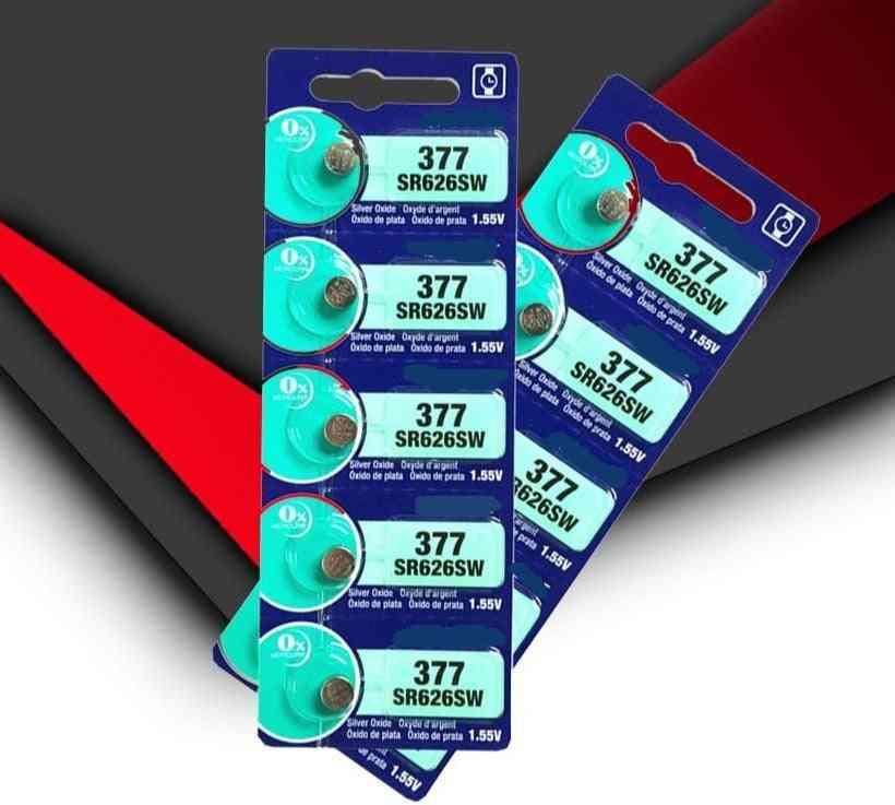 10pcs Original Sr626sw 626 Sr626 V377 Ag4 Watch Battery