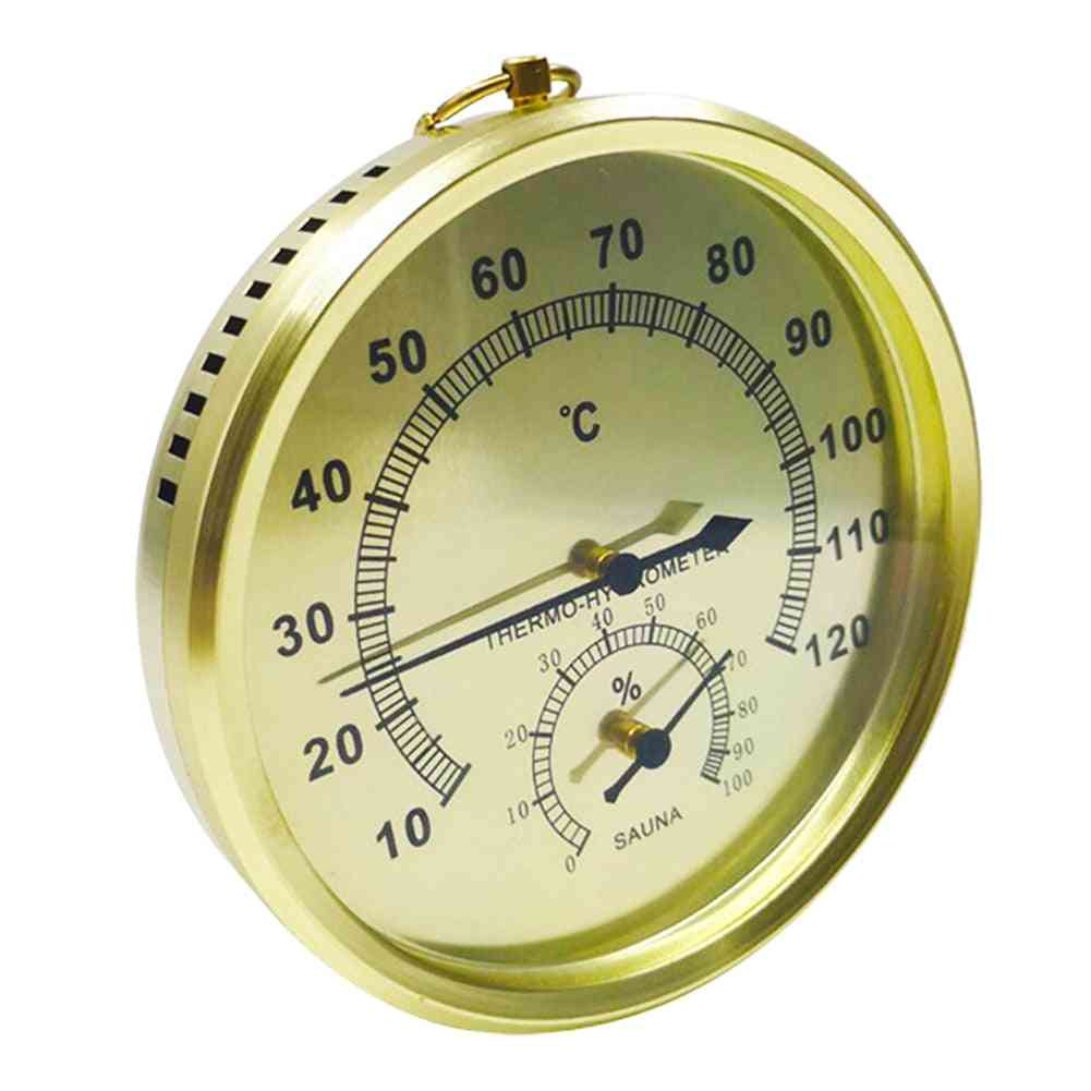 Aluminum Alloy Wall Mounted Sauna Thermo-hydrometer Tool