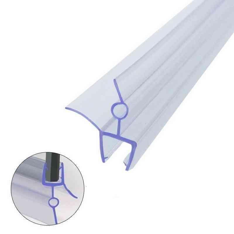 2pcs Of Waterproof Rubber Strip Under Glass Door , Thickness 4-6mm