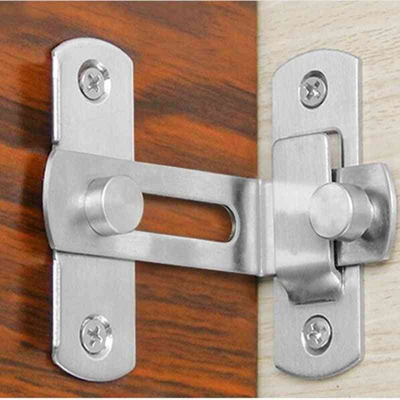 Hardware 90 Degree Door Buckle And Stainless Steel Lock