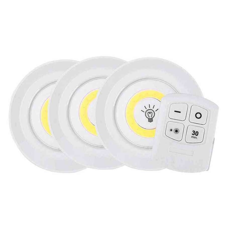 Battery Operated Dimmable Led - Under Cabinet Light With Remote Control