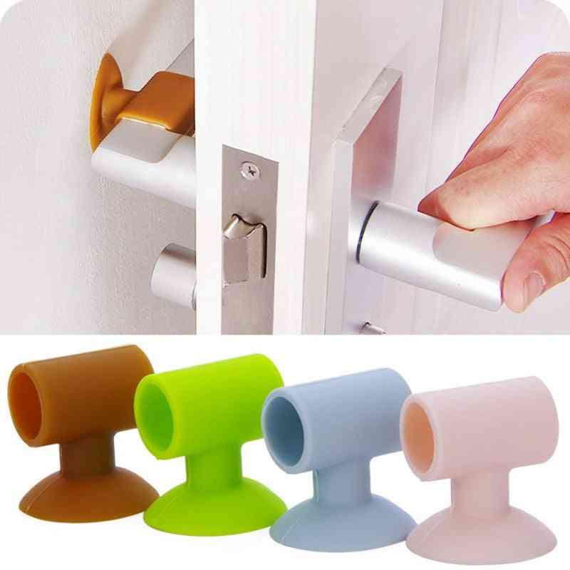 Silicone Door Handle Lock Suction Cup Wall For Anti-collision Silencer Protective Pad