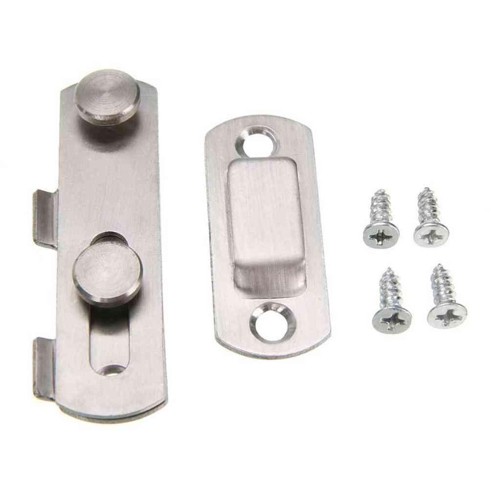 Mayitr 1set Guard Latch Bolt And 4 Screws -sliding Door Lock Handle