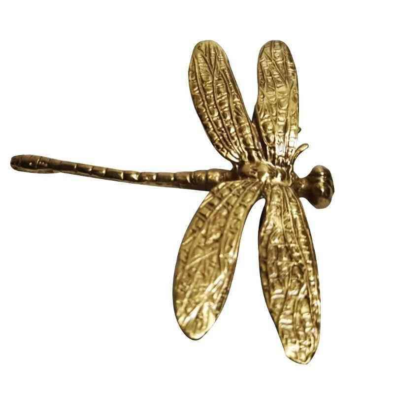 Handcrafted Brass Dragonfly Drawer Knob
