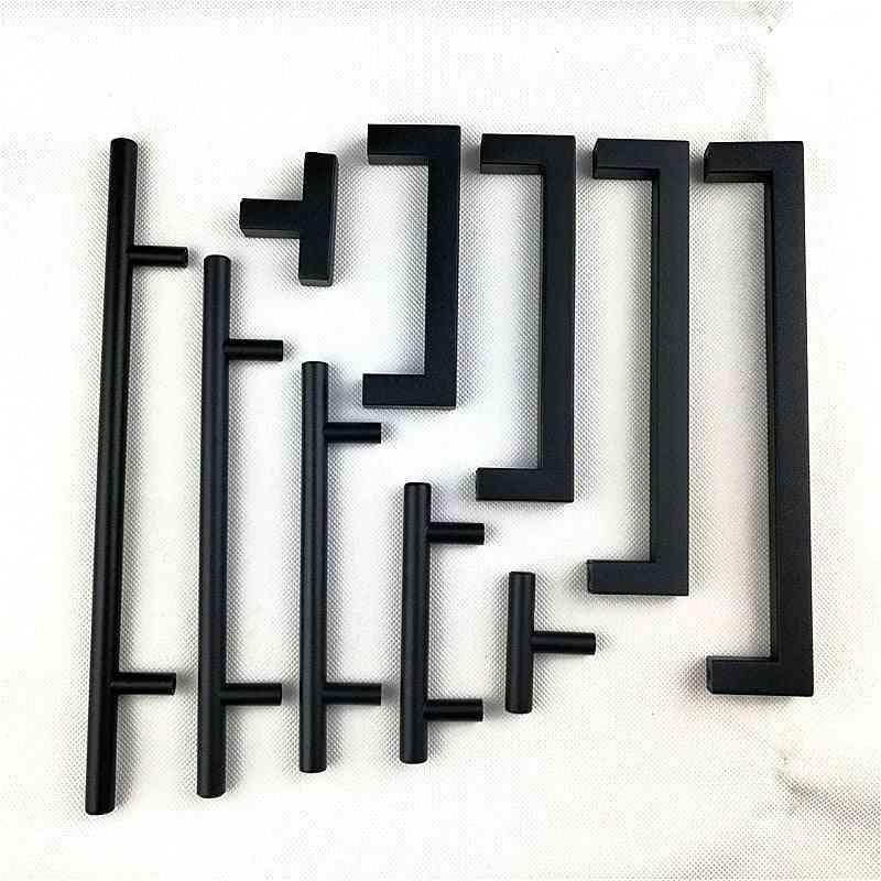 Square Handle Stainless Steel Cabinet Kitchen Door Knob Furniture Drawer