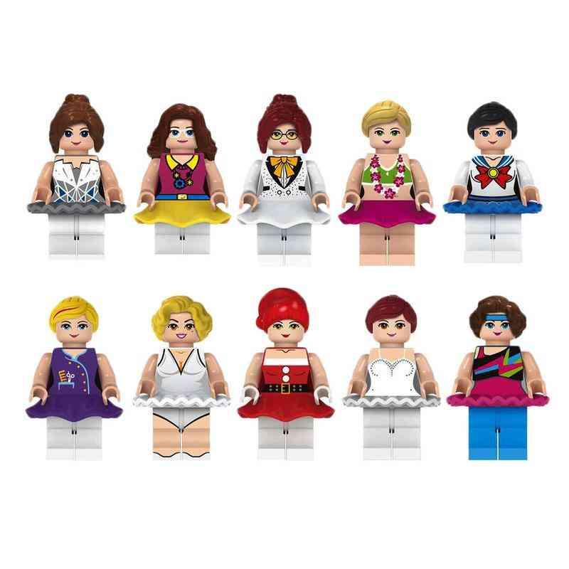 Girl Doll Building Block Toy - Female Star Designer