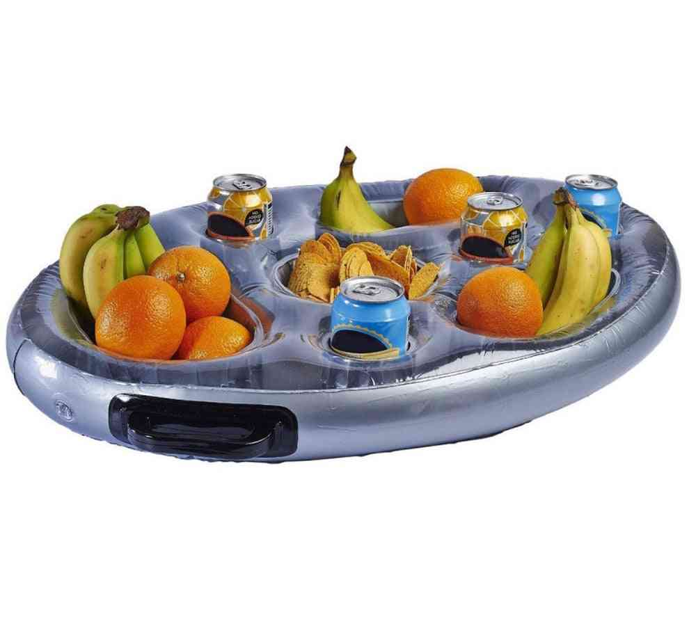 Inflatable Spa Tube Tray With 2 Carry Handles For Drinks And Snacks