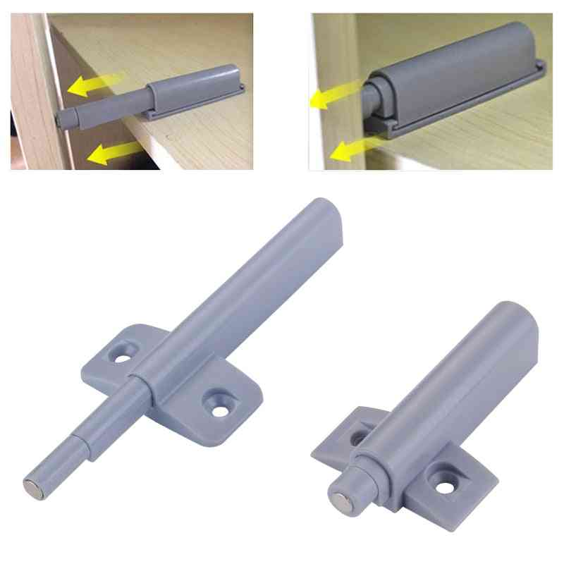 Myhomera Magnetic Catches Cabinet Latch Push- Open Cupboard Drawer Door Touch Stop, Damper Buffer Pull Push Invisible
