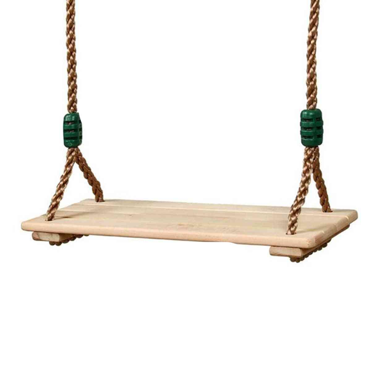 Adults And Children Swing Wooden Toy - With Rope