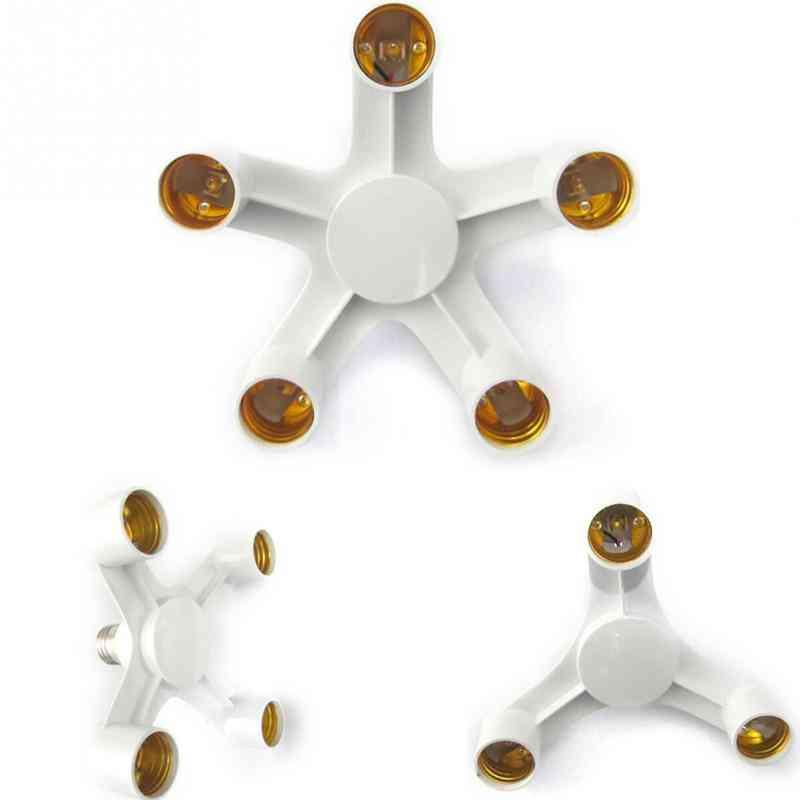 3 In 1 Lamp Holder Converters Base Socket Splitter - Led Light Bulb Adapter