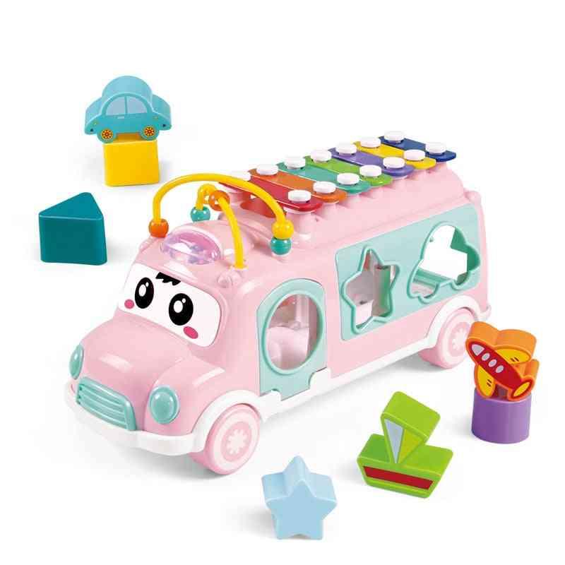 New Music Bus Sorting Nesting Stacking - Boy&girl Lovely Beads Educational Baby For