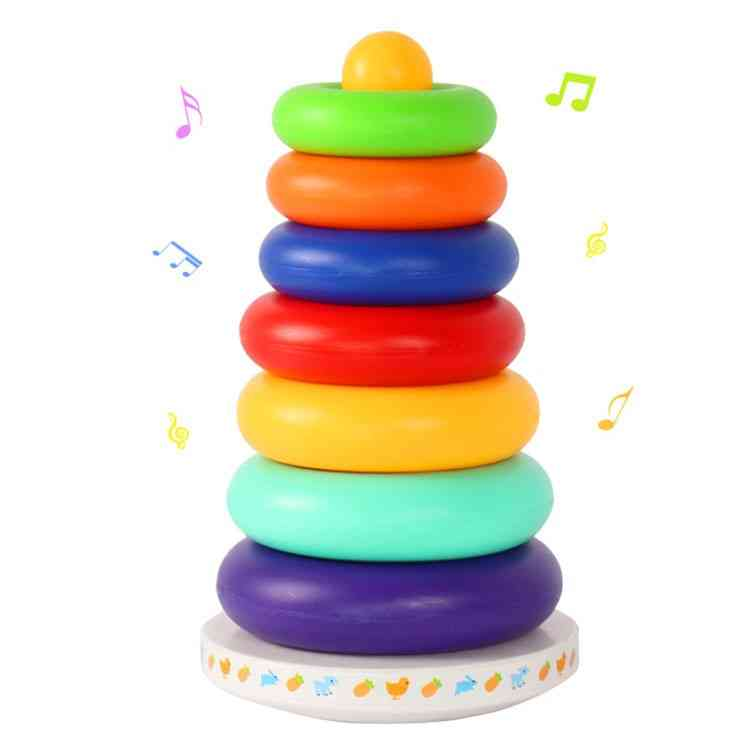 Music Rainbow Circle Tower-layer Stacking Rings- Educational