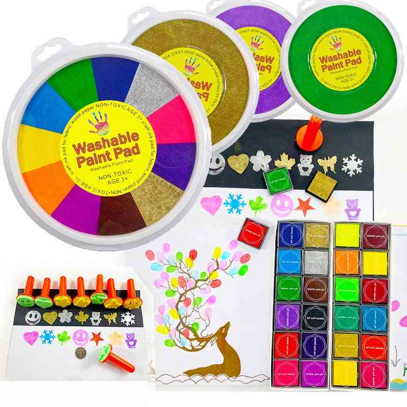 Colors Ink Pad Stam - Finger Painting Craft