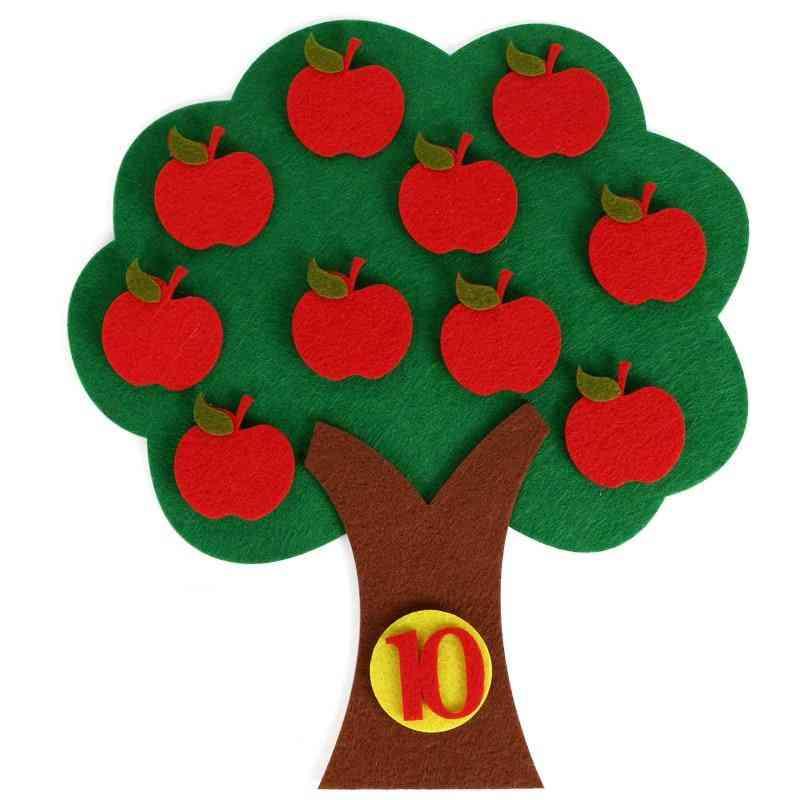Montessori Educational Toy Puzzle, Handmade, Apple Tree