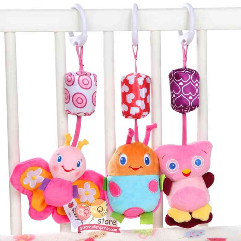 Baby Rattle Plush Stroller Hanging Bell Ring Mobiles - Baby Soft Crib Educational