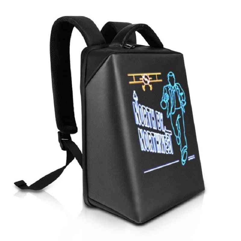 Screen Hd Led Dynamic Advertising Backpack