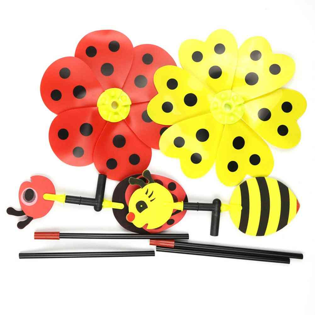 Ladybug Design Windmill For Home Yard, Garden Decor