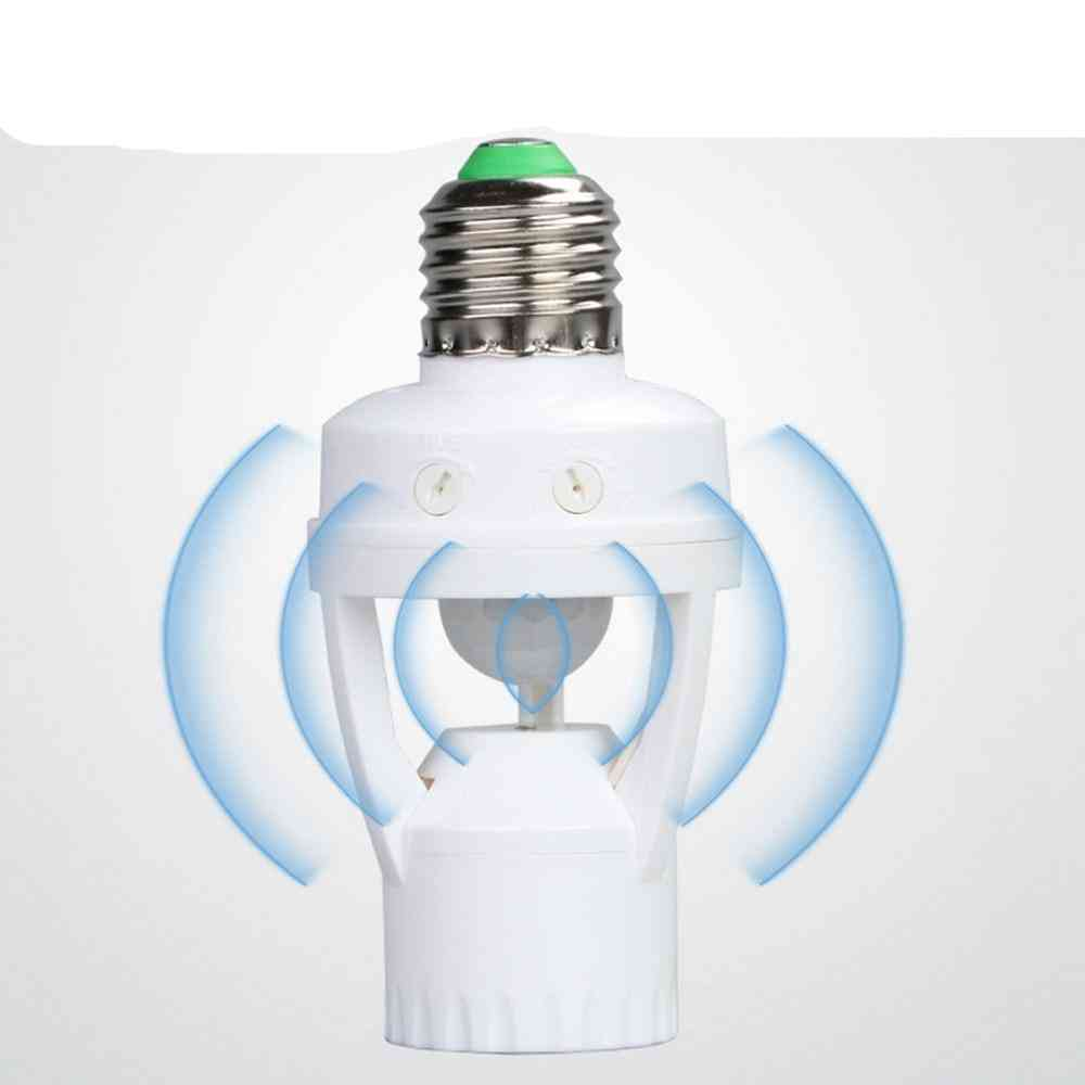 Ac100-240v Socket E27 Converter With Pir Motion Sensor Ampoule Led E27 Lamp