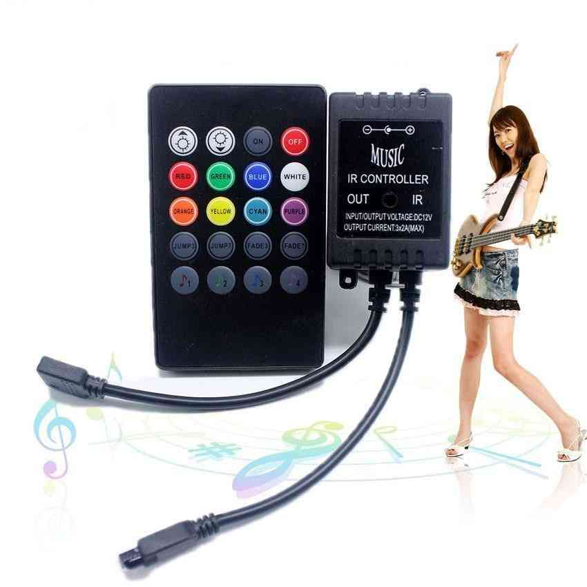 High Quality New 20 Music Keys ,ir Controller- Black Remote Sound Sensor