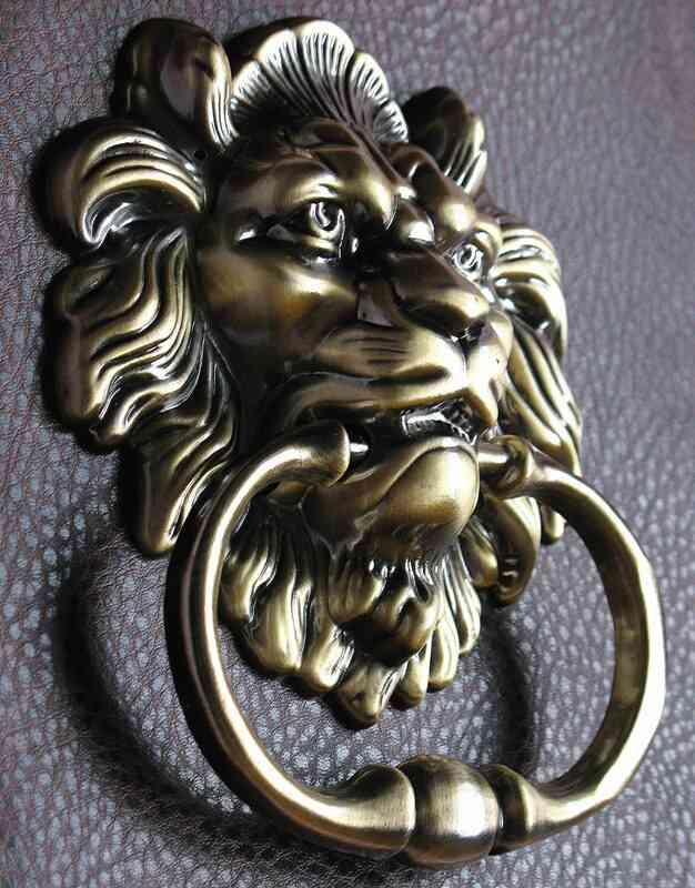 Antique Bronze Lion Door Knocker-including Screws