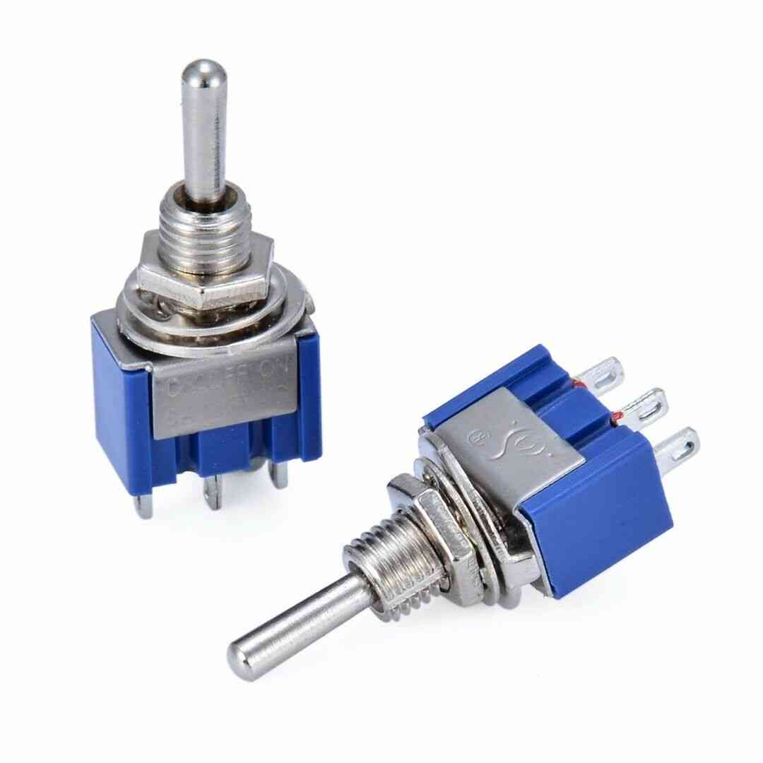 Mts-103 Blue Miniature Control Toggle Switch- With 3 Position