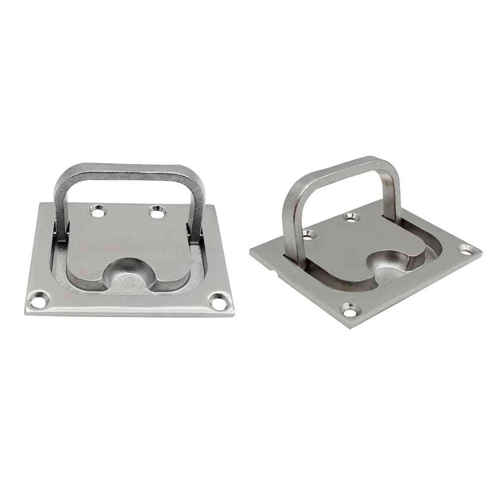 Hatch Pull Deck Cover Handle- Corrosion Resistant Lifting Stainless Steel Boat