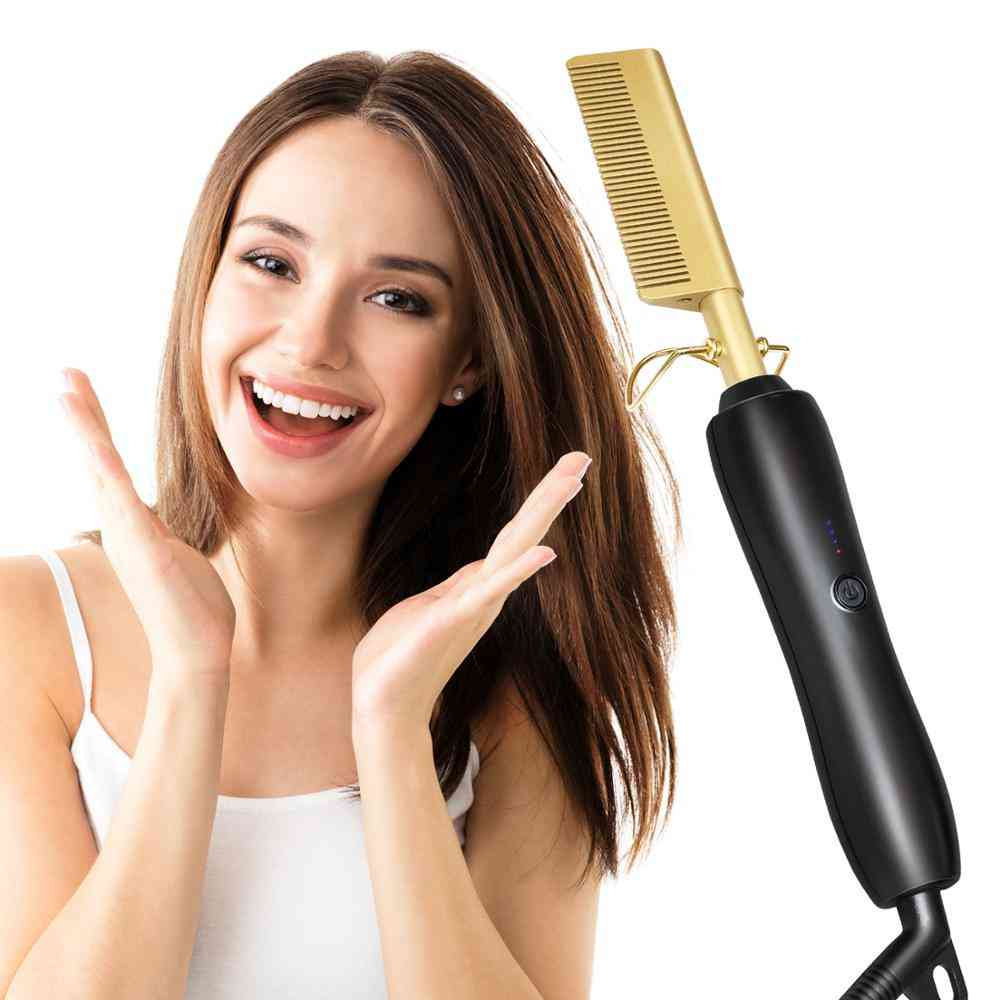 Electric Straightening And Curling-heat Pressign Comb