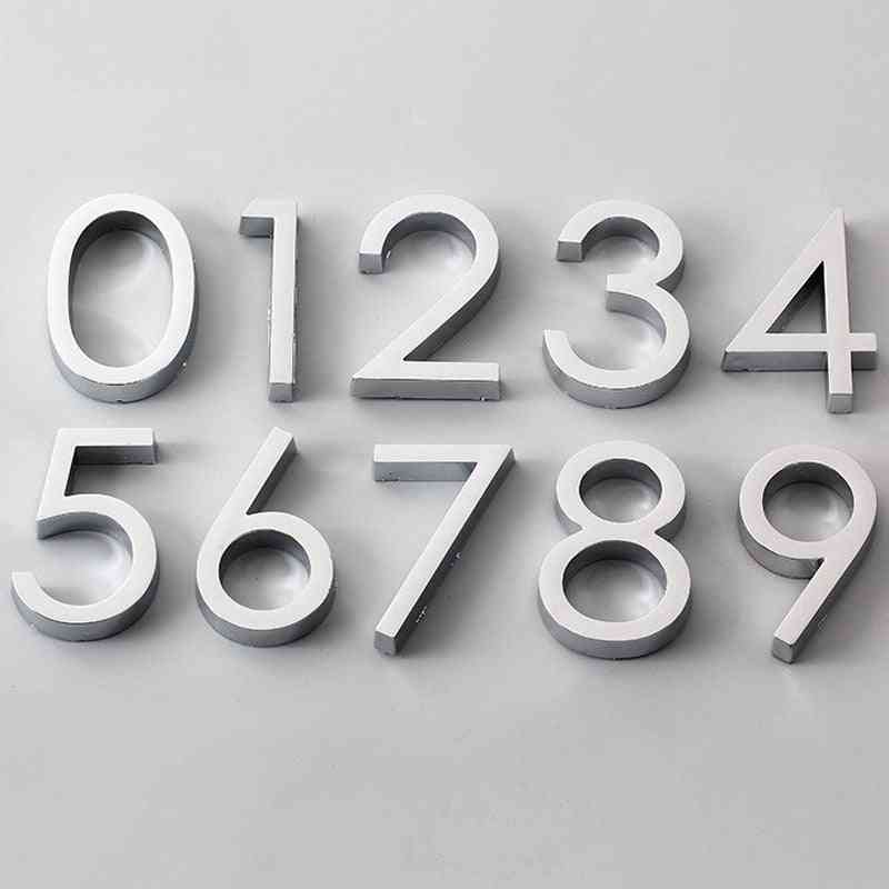 Number Digits With Self Adhesive Sticker For Home/hotel/office Door Address
